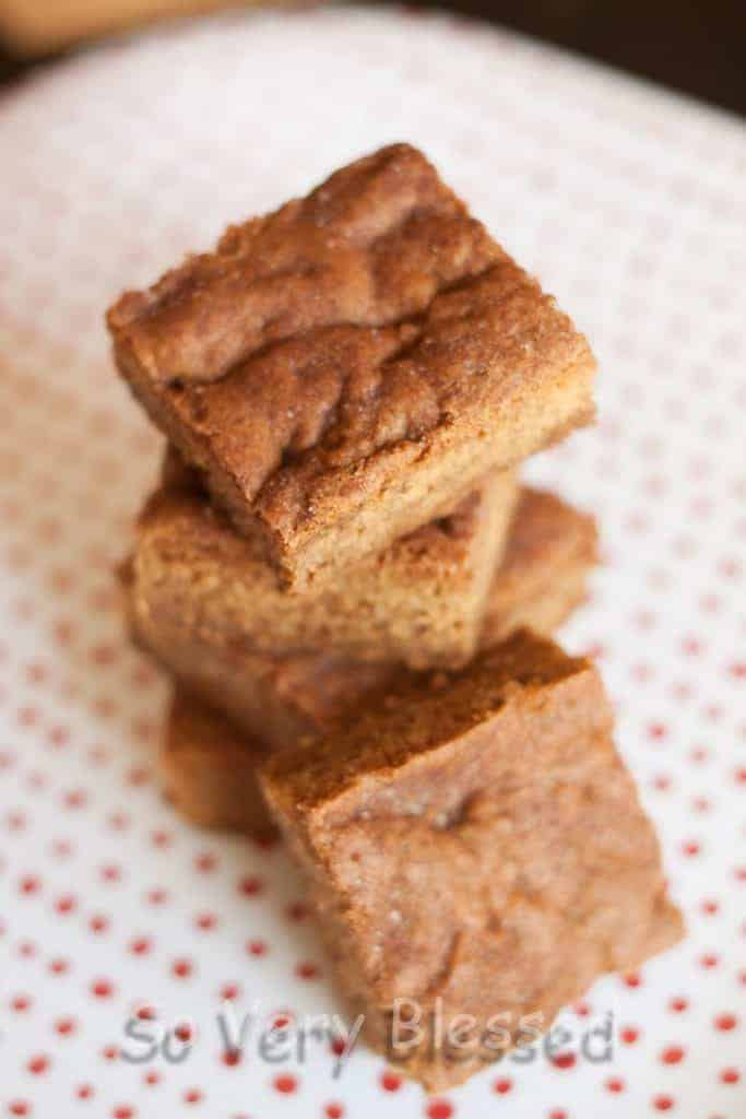 Maple Snickerdoodle Bars Recipe : So Very Blessed
