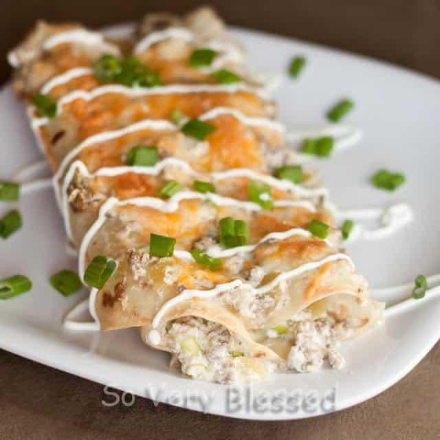 Sour Cream Enchiladas Recipe : So Very Blessed