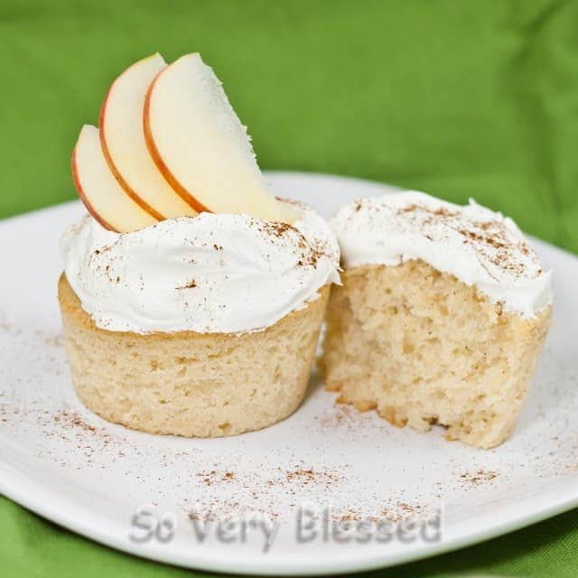 Apple Cider Cupcakes Recipe : So Very Blessed