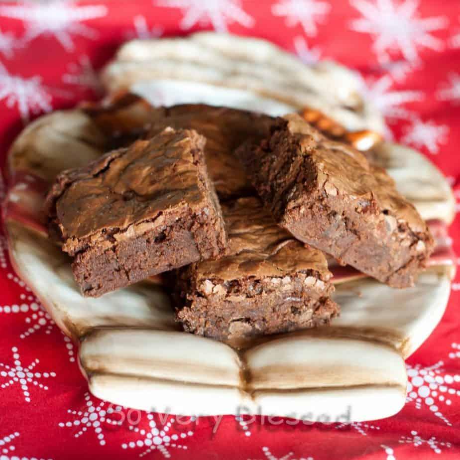 Milky Way Brownies Recipe : So Very Blessed