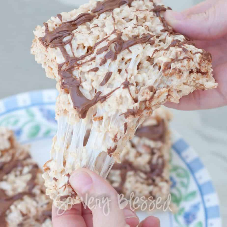 Snickers Rice Krispy Treats : So Very Blessed