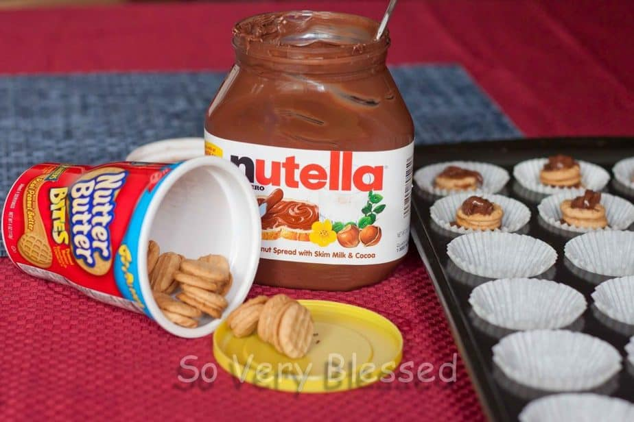 Nutter Butter Nutella Brownie Bites : So Very Blessed