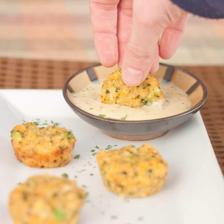 Broccoli Cheese Quinoa Bites Recipe : So Very Blessed