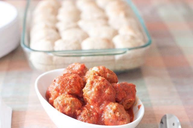 Asiago Turkey Meatball Sliders Recipe : So Very Blessed