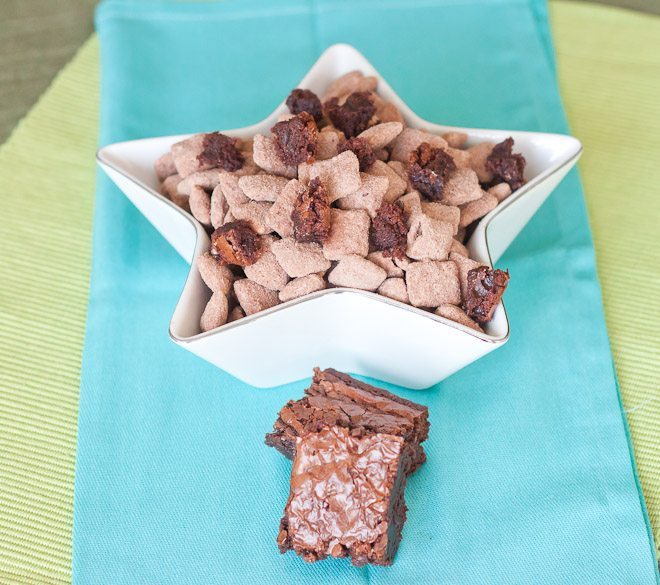 Brownie Batter Puppy Chow Recipe : So Very Blessed