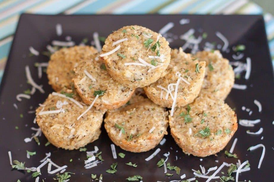 Garlic Bread Quinoa Bites Recipe : So Very Blessed