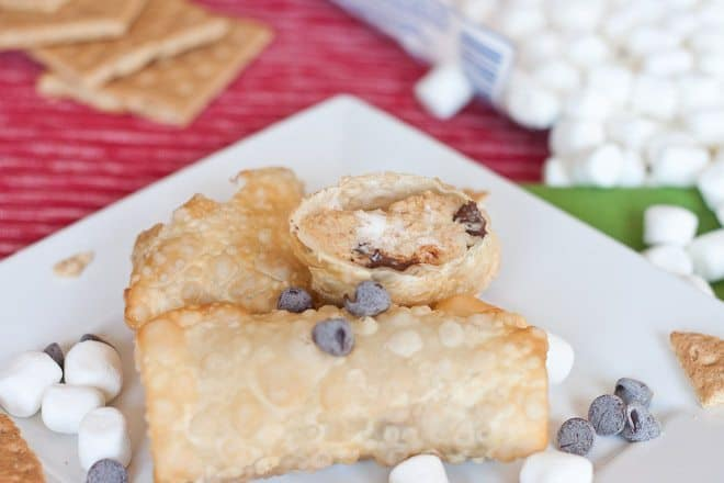 S'more Egg Rolls Recipe : So Very Blessed