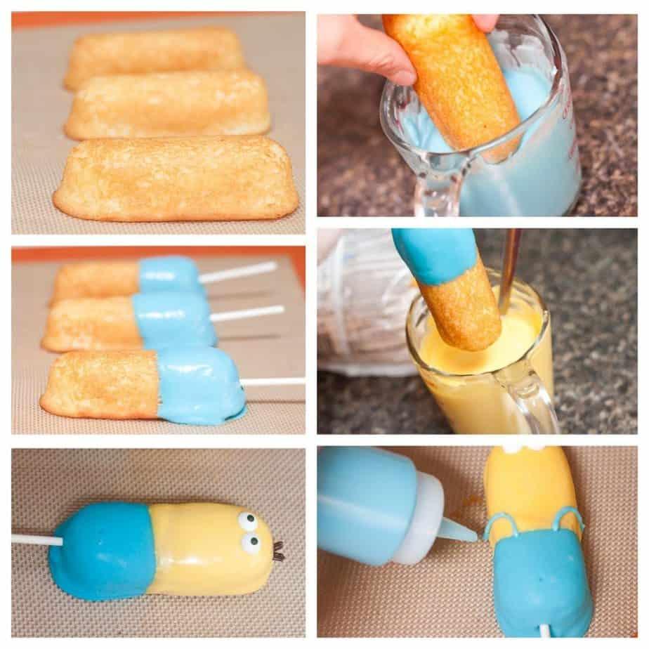 Twinkie Minions & Macaroon Krispie Treats Recipe : So Very Blessed