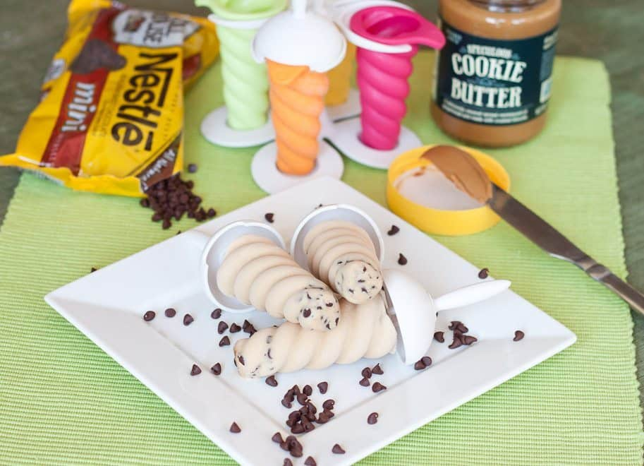 Chocolate Chip Cookie Butter Popsicles : So Very Blessed