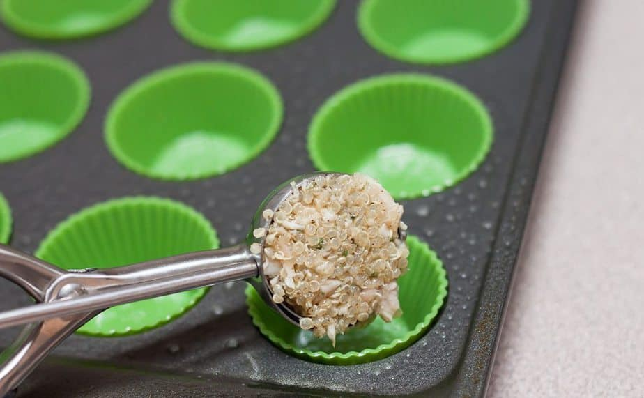 Turkey Quinoa Bites Recipe : So Very  Blessed - Turkey Quinoa Bites are the perfect way to transform your Thanksgiving leftovers into a tasty and healthy, perfectly poppable protein-packed dish.