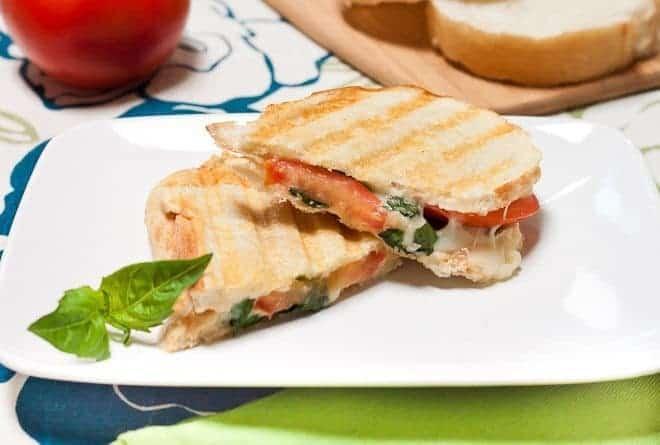 Tomato Basil Panini Recipe : So Very Blessed