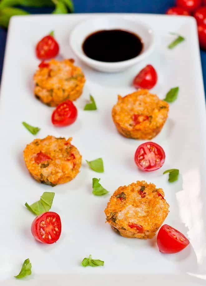 Tomato Basil Quinoa Bites : So Very Blessed