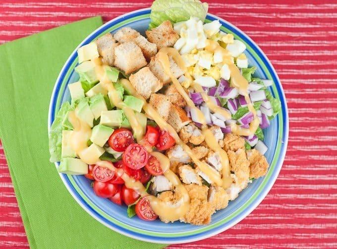 Crispy Chicken Salad Recipe : So Very Blessed