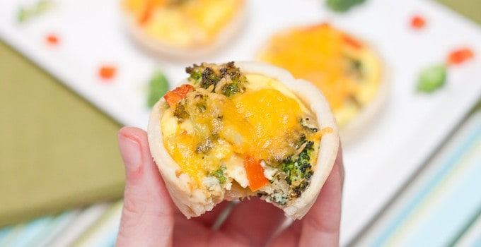 Roasted Vegetable Quiche Cups Recipe