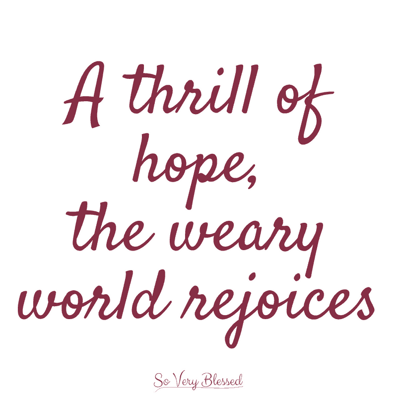 Advent - A Season of Hope : So Very Blessed - This advent season leading up to Christmas, celebrate the hope that is bigger than ourselves, that offers us a brighter future, and is anchored in Christ alone.