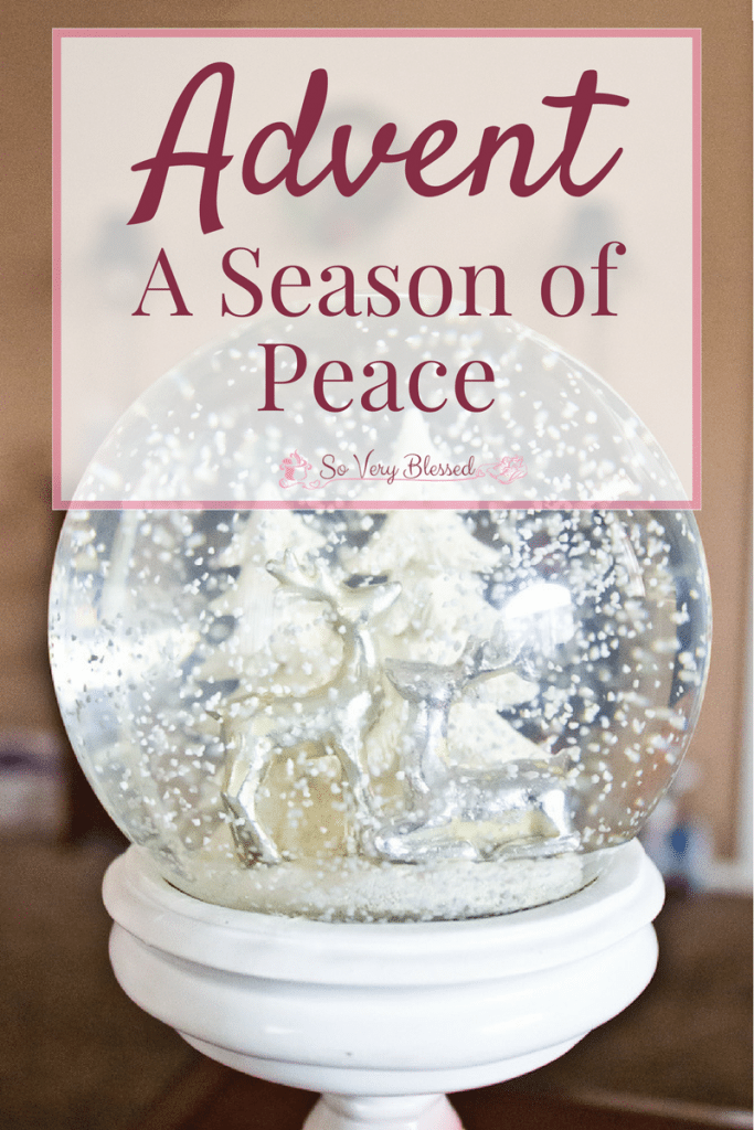 Advent - A Season of Peace on Earth : So Very Blessed - In a conflict-filled world, it is almost impossible to find peace. Christ offers you a peace that brings joy, guards your heart and mind, and passes all understanding!