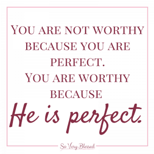 It's exhausting, constantly striving for more but never feeling good enough. You can stop striving. You are more than enough because your worth is in Christ alone.