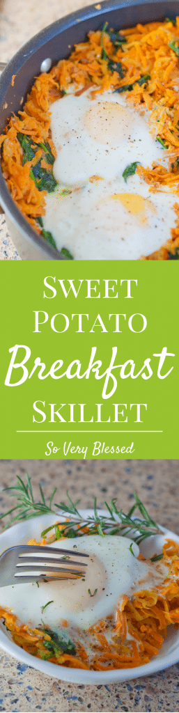 Make this Sweet Potato Breakfast Skillet for a simple & healthy meal to brighten up your morning!